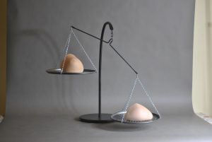 Breast Forms on Weight Scales